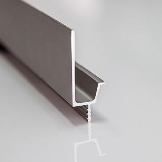 Профиль алюминиевый VR-1, 3м (фактура сатин, матовая бархатная поверхность) (ПОД ЗАКАЗ)