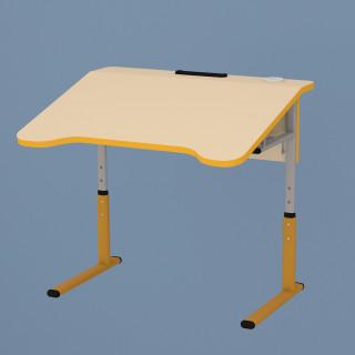 Парта (стіл) одномісна, антискаліозна, регульована (3-5 ростові групи)