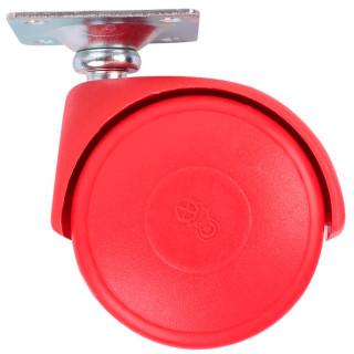 Ролик с площадкой D50 мм, нагрузка 30 кг Красный (35109) (Под заказ)