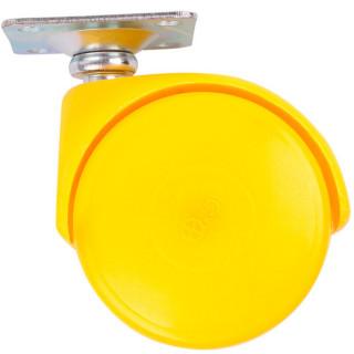 Ролик с площадкой D50 мм, нагрузка 30 кг Желтый (35107) (Под заказ)