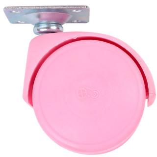 Ролик с площадкой D50 мм, нагрузка 30 кг Розовый (35112) (Под заказ)