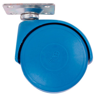 Ролик с площадкой D50 мм, нагрузка 30 кг Синий (35108) (Под заказ)
