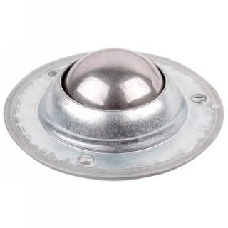 Ролик мебельный  металлический врезной с металлическим шариком 50 кг Хром (35113)