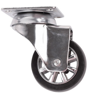 Ролик прорезиненный D50 с хромированным ободом, 40 кг (35115)