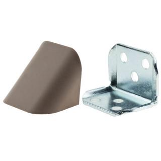 Уголок двойной КАПУЧИНО (МОККО) металлический с пластиковой крышкой