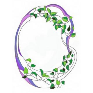 Витраж для декора зеркала mr035