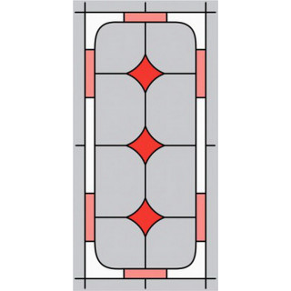 Витраж для кухонных фасадов kit43