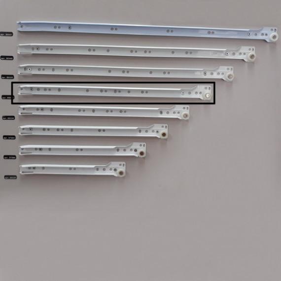 Направляющие частичного выдвиж. белые 450 мм ДС