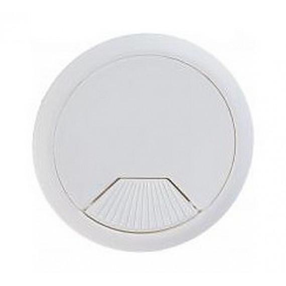 Заглушка компьютерная (проход) для проводов белая в ассортименте