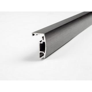 Профиль алюминиевый выпуклый графит браш 2800 мм, ЦЕНА УКАЗАНА ЗА МЕТР/П, ДО ПОЛНОЙ РАСПРОДАЖИ