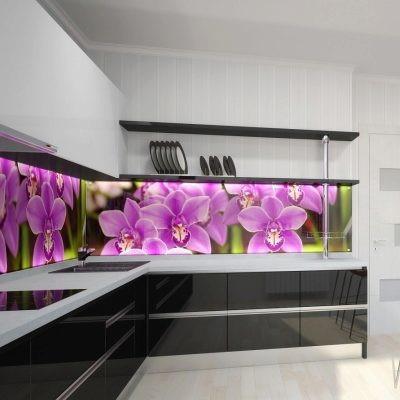 Фотопечать на кухонную стеновую панель