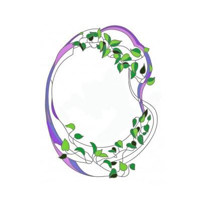 Вітраж для декору дзеркала